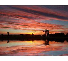 Sunset on the farm 6 Photographic Print