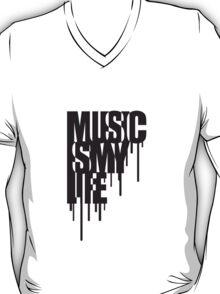 Music Is My Life Graffiti Design T-Shirt
