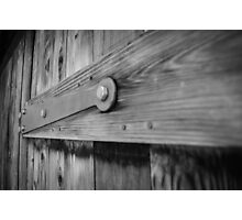 Wooden Door Close Up Photographic Print