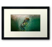 Underwater Wave Framed Print
