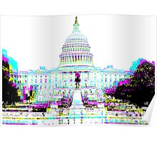 US Capitol Building in CMYK Poster