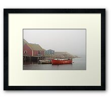 Boats In Peggy's Cove Framed Print