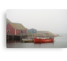 Boats In Peggy's Cove Canvas Print