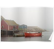 Boats In Peggy's Cove Poster