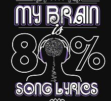 my brain is 80% song lyrics by winterman199
