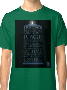 Dr. Who - He's Wonderful Classic T-Shirt