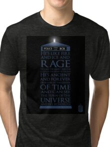 Dr. Who - He's Wonderful Tri-blend T-Shirt