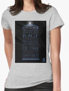 Dr. Who - He's Wonderful Womens Fitted T-Shirt
