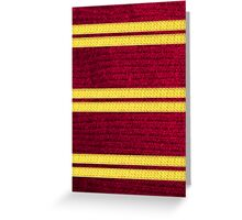 Knitted Scarf - Gryffindor Greeting Card
