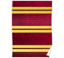 Knitted Scarf - Gryffindor Poster