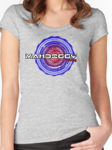 Maxdoggy Gaming - Black Outline Women's Fitted Scoop T-Shirt