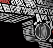 Pulp Fiction - Ezekiel 25:17 Sticker
