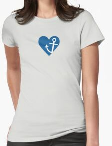 Anchor with heart Womens Fitted T-Shirt