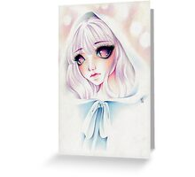 Little White Riding Hood Greeting Card