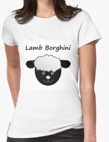 Lamb Borghini funny Sheep Pun Womens Fitted T-Shirt