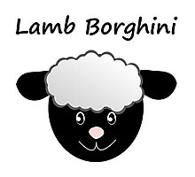 Lamb Borghini funny Sheep Pun Photographic Print