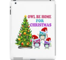 Owl Be Home For Christmas iPad Case/Skin