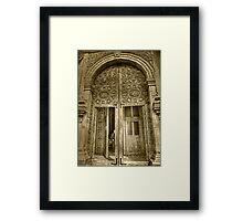 ©MS La Puerta Tlalpujahua IA Monochromatic Framed Print