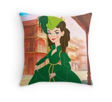 Curtain gown Scarlett Throw Pillow