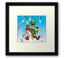Yogi the Bear - Because F*ck it. Framed Print