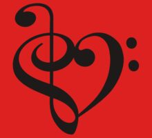 Treble-Bass heart by rjburke24
