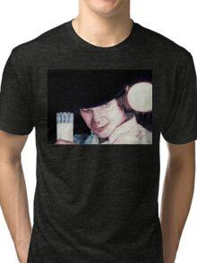Malcolm McDowell Clockwork Orange portrait Tri-blend T-Shirt