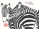 Dazzle of Zebras (animal groups series) by dosankodebbie