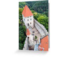 Kokorin castle. Greeting Card