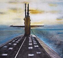 USS Wyoming  by David M Scott