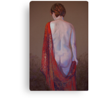 Shannon in a Red Silk Shawl Canvas Print