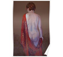Shannon in a Red Silk Shawl Poster