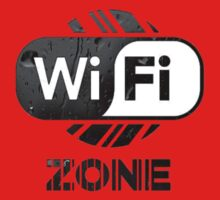 Graphic Design T-Shirts WiFi Zone  Baby Tee