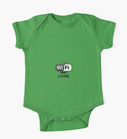 Graphic Design T-Shirts WiFi Zone  One Piece - Short Sleeve