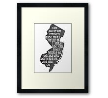 Jersey Girl Framed Print