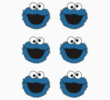 Cookie Monster ×6 by bape ★ $1.49 stickers