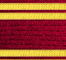 Knitted Scarf - Gryffindor by jellyelly
