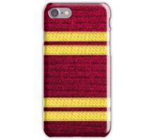 Knitted Scarf - Gryffindor iPhone Case/Skin