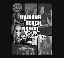 Murder Death Arson: Norway (Black and white) T-Shirt