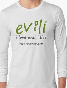 The I Love and I Live logo in military green Long Sleeve T-Shirt