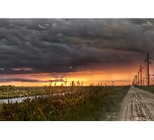 Everglades sunset Photographic Print