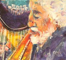 The Harpist by christine purtle