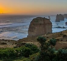 Sunset At The Apostles by Adrian Alford Photography