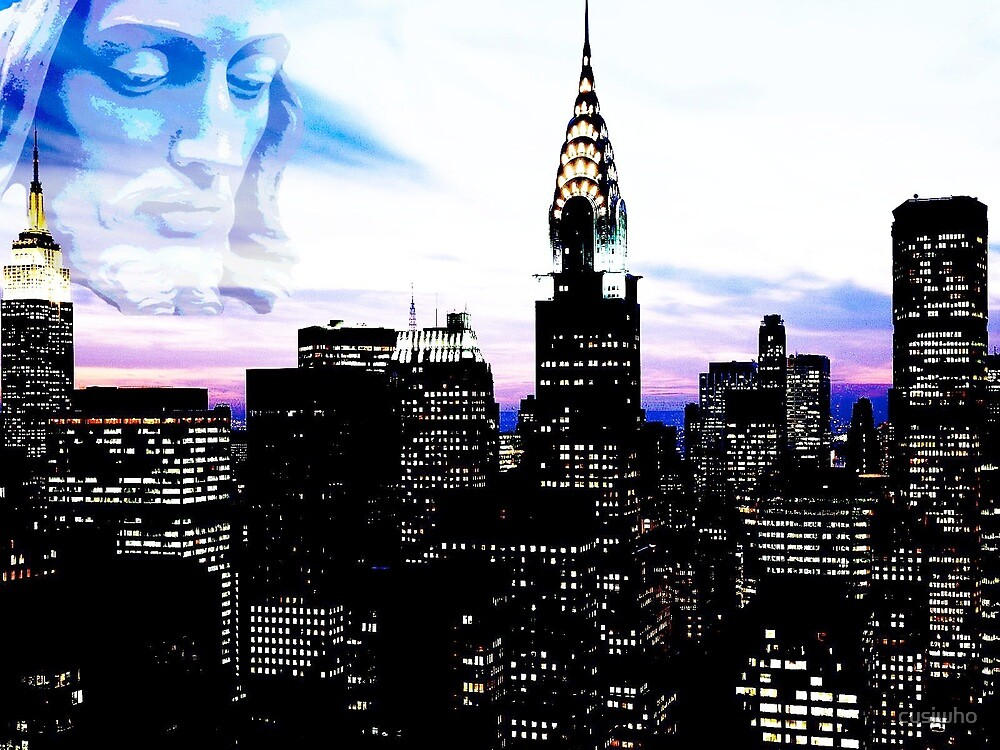 Jesus Visits Mary In Midtown At Sunset by cusiwho