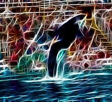 Shamu in Neon: by Cherubtree
