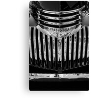 Chevvy grille Canvas Print