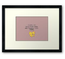 Love pizza Framed Print