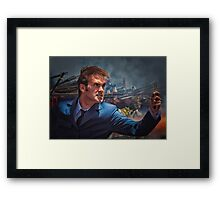 Dr. Who goes to war Framed Print