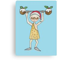 Christmas Strongman  Canvas Print