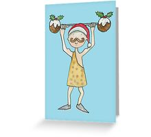Christmas Strongman  Greeting Card