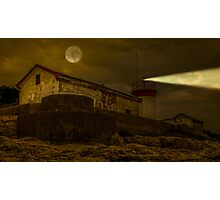 Lighthouse by night Photographic Print